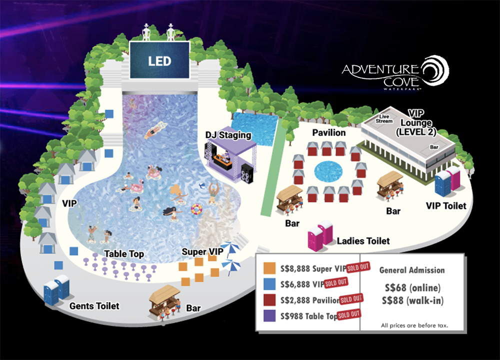 Typhoon 8: Water-themed Rave at Sentosa's Adventure Cove